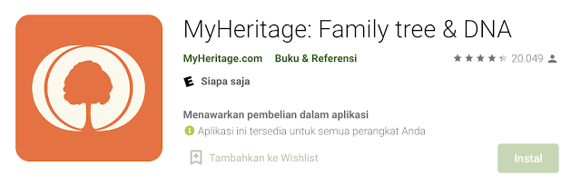 Apa Itu Aplikasi My Heritage