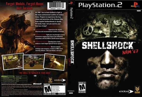 Descargar ShellShock Nam '67 para PlayStation 2 en formato ISO región NTSC y PAL en Español Multilenguaje Enlace directo sin torrent. Es un juego de disparos en tercera persona juego de vídeo que se establece durante la guerra de Vietnam en la que el jugador toma el control de un soldado estadounidense recién elaborado.
