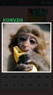 651 слов обезьяна снимает кожуру с банана, чтобы съесть 18 уровень