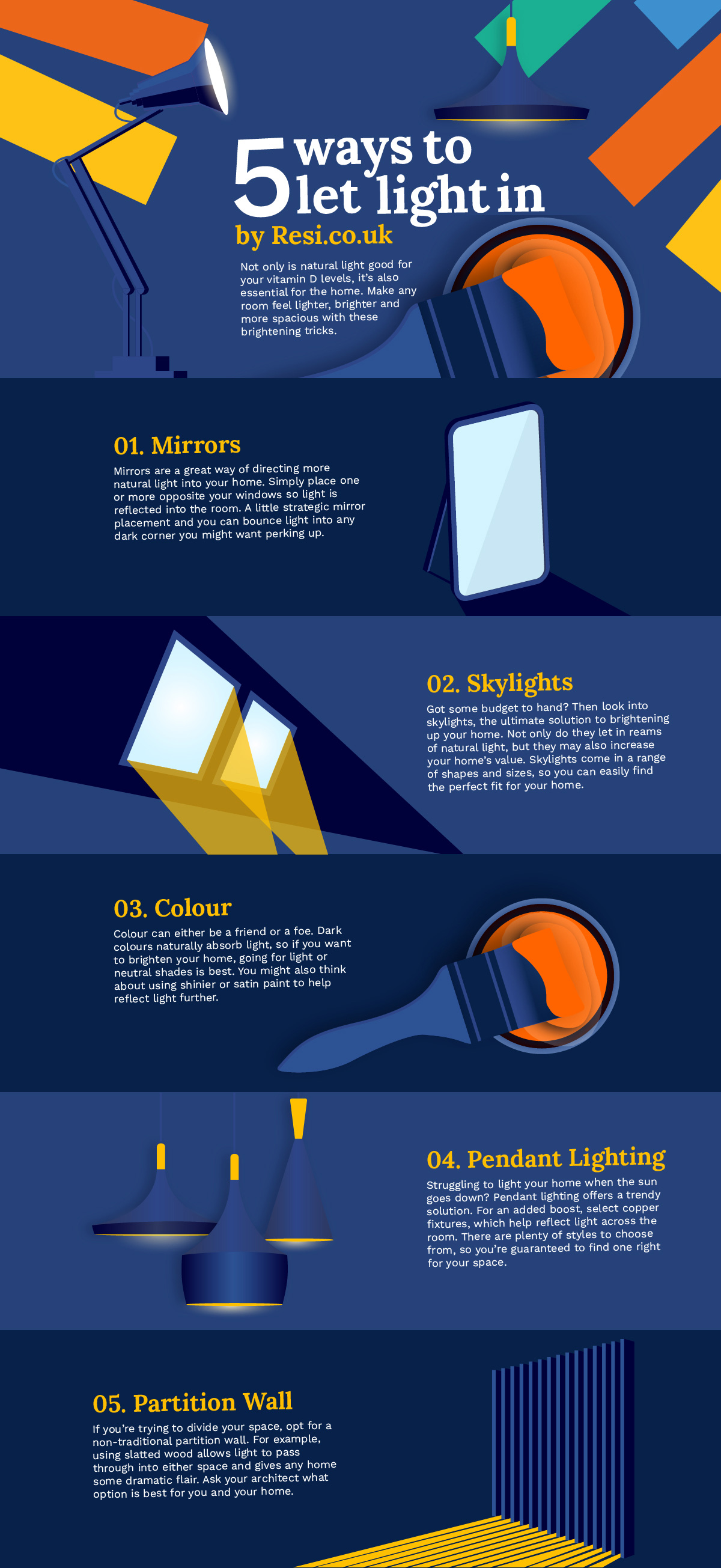 5 Ways To Let Light In #infographic