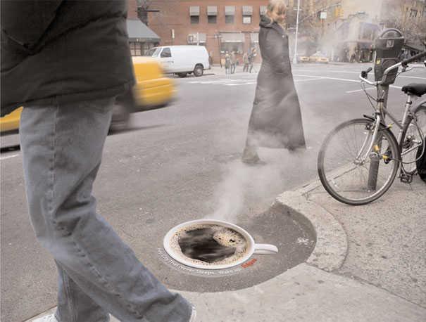 Folgers coffee street ad