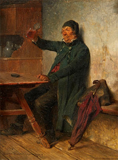 Tavern Scene with a Man Drinking
