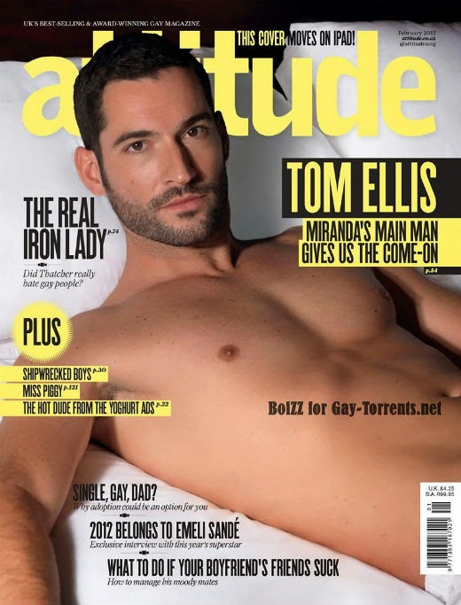 Tom Ellis shirtless