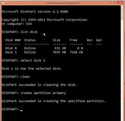 Cara Perbaiki Flashdisk Memory dan Pen Drive Rusak Corrupted - partition