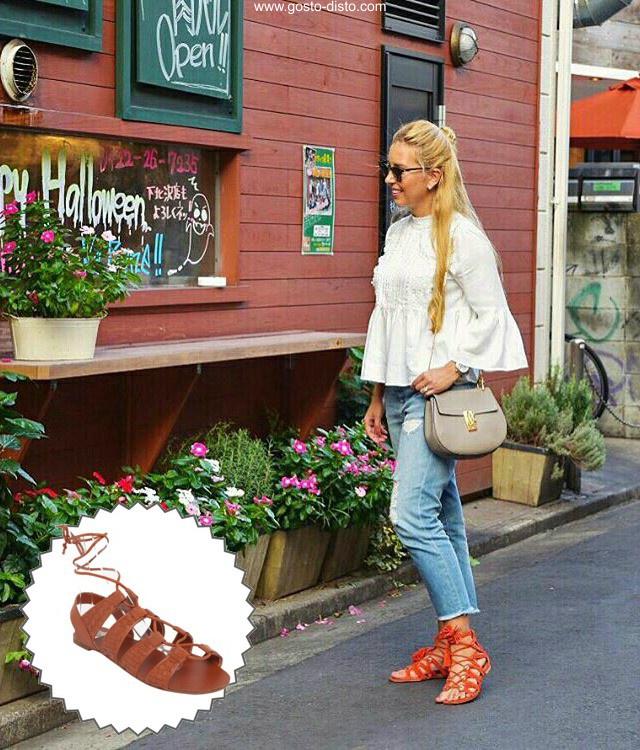 Sandálias e sapatos que estão sendo ou serão usadas no verão 2017