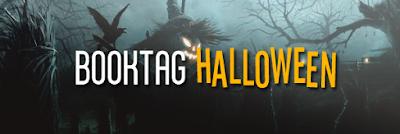 Booktag Halloween, espantapájaros terrorífico en un cementerio