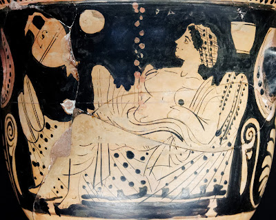 Dánae, cerámica griega