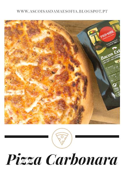 A melhor pizza carbonara caseira do mundo!