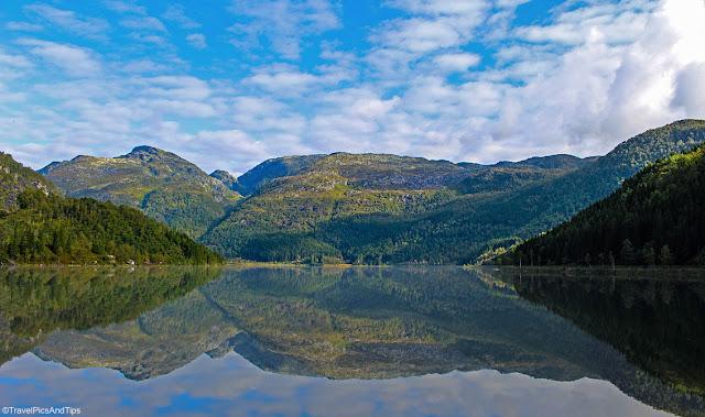 Randonnée au lac Fidjadalsvatnet, Norvège du sud