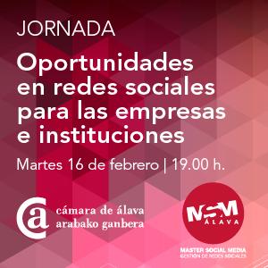 """Cartel de la Jornada """"Oportunidades en redes sociales para las empresas e instituciones"""""""