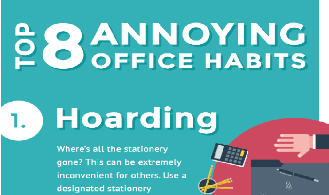 Top 8 Annoying Office Habits #infographic