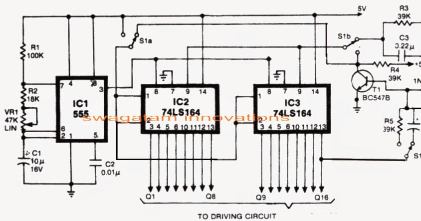knight rider led scanner circuit mustang type electronic circuit