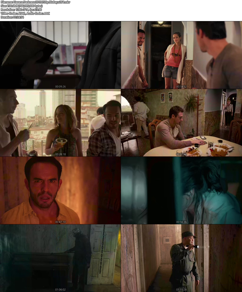Havana Darkness 2019 720p BluRay x264 | 480p 300MB | 100MB HEVC Screenshot
