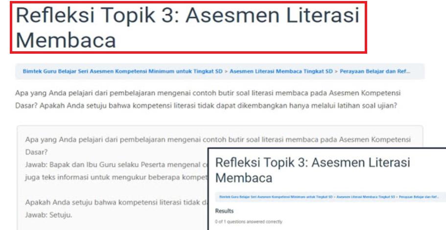 gambar refleksi topik 3 asesmen literasi membaca