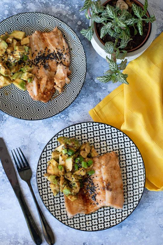 recette truite sauce soja caramélisée