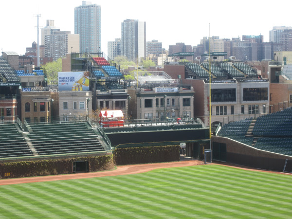 cubby news photos of wrigley field ready for the cubs home opener tomorrow