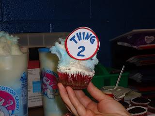 Thing 2 Cupcake Dr. Seuss
