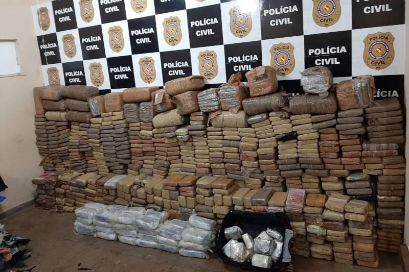 Polícia apreende uma tonelada de drogas em Santarém, e supera marca de 2020