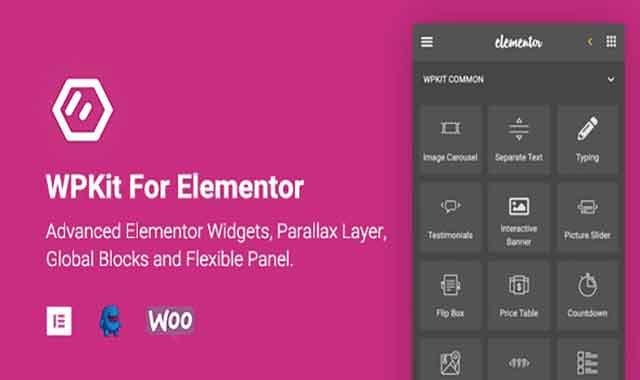 تحميل اضافة WPKit For Elementor 1.0.7 مجانا