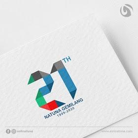 Desain Logo HUT Natuna 21