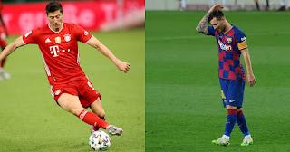 Messi slightly ahead of Lewandowski in goal contributions in 2020