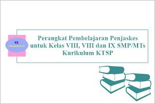 perangkat pembelajaran penjaskes untuk kelas vii-viii-ix smp/mts kurikulum ktsp