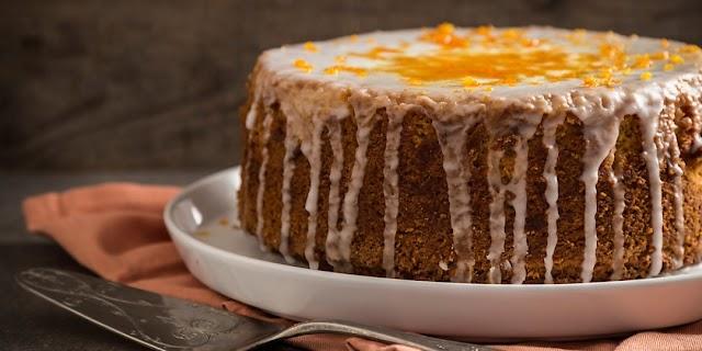 Κέικ με ταχίνι με πορτοκάλι