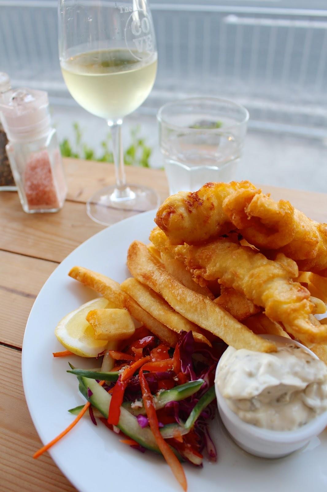 Cove Beach Café fish & chips | New Zealand