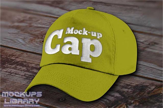 Green Cap Mockup Design