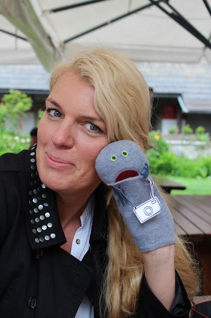 Tanja von House No. 15 mit Egon, der Super-Sorgen-Socke. #sbgatc16