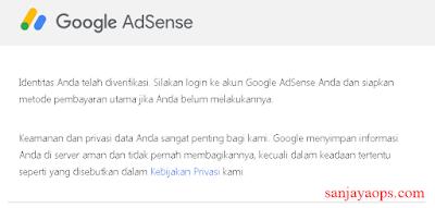 cara verifikasi identitas adsense menggunakan ktp tahun 2020