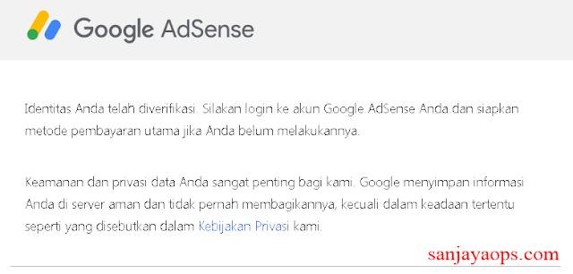 cara verifikasi identitas adsense menggunakan ktp