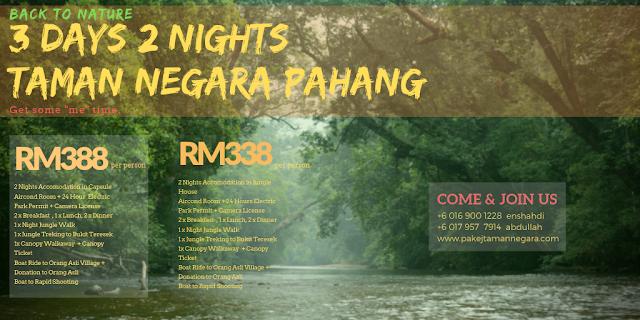 Pakej Taman Negara 2019 , Pakej National Park Pahang 2019 , Kuala Tahan , Jerantut