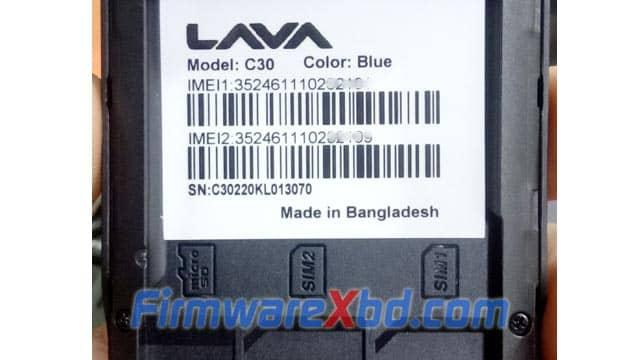 Lava C30 Flash File