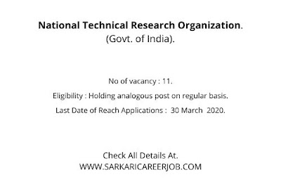 NTRO Vacancy 2020 | Assistant Post NTRO Online Application.