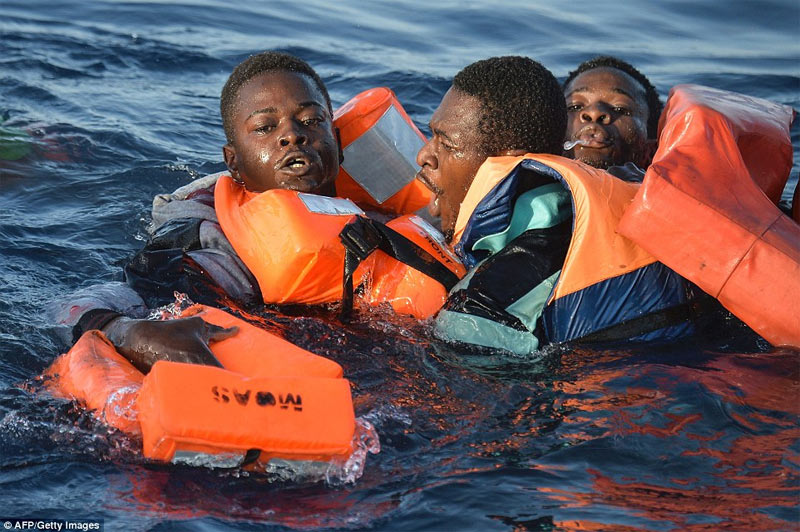 Photos: 240 African migrants drown as two boats capsize on way to Europe