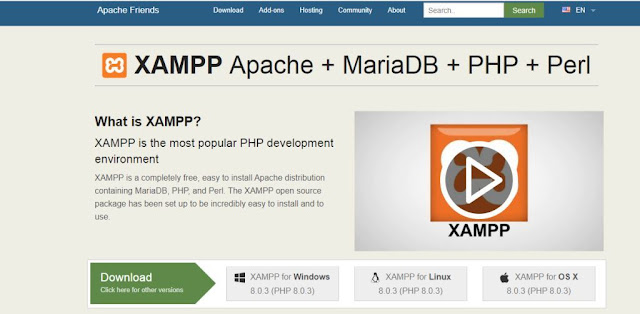 Download xampp server and install your computer
