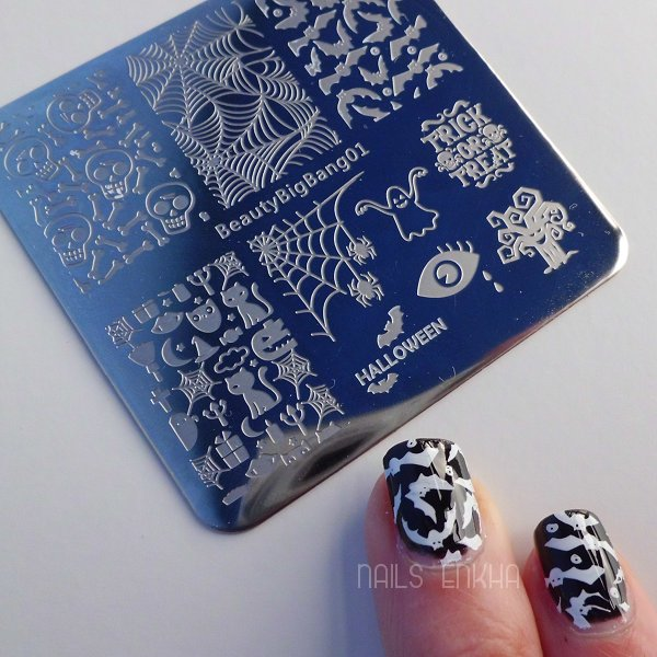Halloween Bat Nail Art Stamping Plate SKU:J3141TM-1A