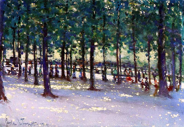 Gordon Forsyth painting of shade 1913