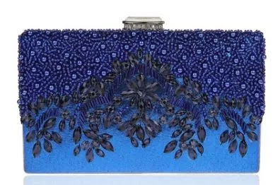 royal blue rhinestone clutch bag