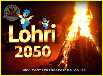 2050 Lohri Festival Date & Time, 2050 Lohri Calendar