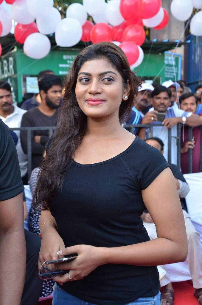 Soumya Stills In Black Dress At Anti Drug Walk Campaign