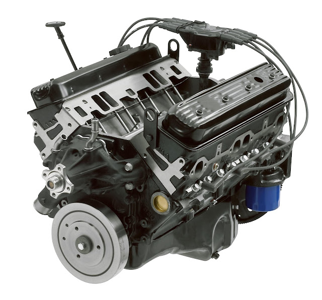 Motori americani: il mistero del motore Chevy 383 - Il crate engine HT383E che GM Performance Parts offre in sostituzione del 350ci montato sui truck e sui SUV costruiti tra il 1996 e il 1999. Questo motore viene offerto per sostituire il propulsore L31 di 5.7 litri, ovvero il 350ci.