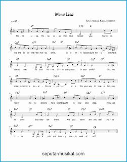 chord mona lisa lagu jazz standar