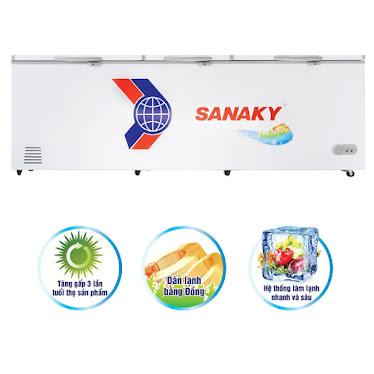 TỦ ĐÔNG SANAKY VH-1399HY3 DUNG TICH 1300L DÀN ĐỒNG INVERTER