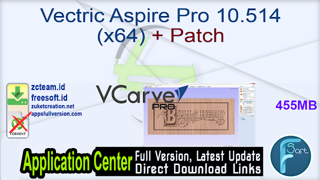 Vectric Aspire Pro 10.514 (x64) + Patch_ ZcTeam.id