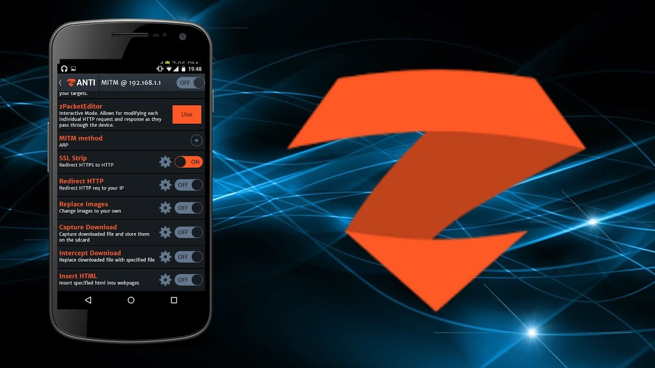 Hacking with Android using zANTI App