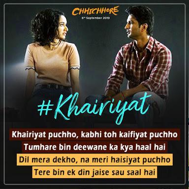 Arijit Singh - Khairiyat Lyrics
