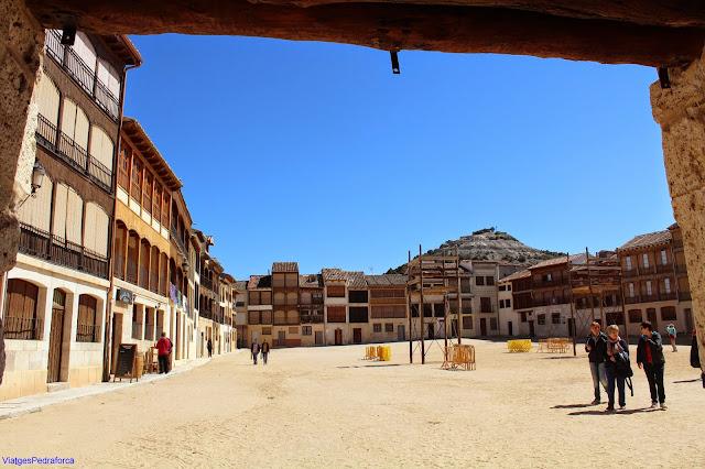 Plaza del Coso, Peñafiel, Valladolid, Castilla y León