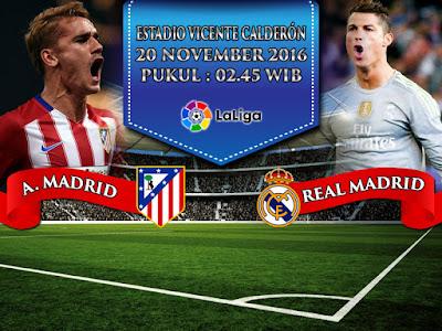 Agen Bola Online Terpercaya - Prediksi Bola La Liga Atletico Madrid vs Real Madrid 20 November 2016